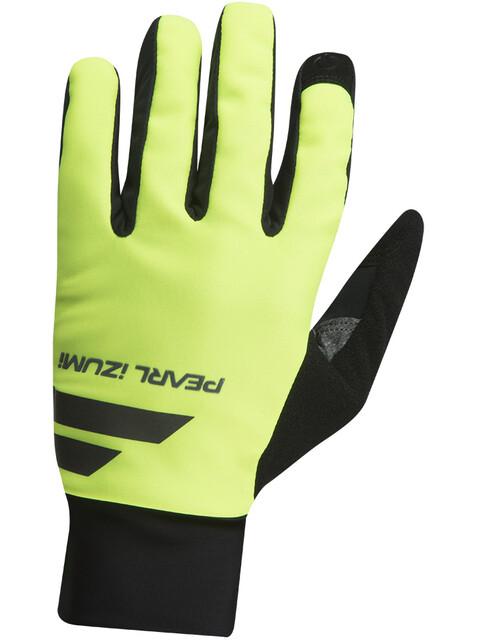 PEARL iZUMi Escape Softshell Gloves Men black/screaming yellow